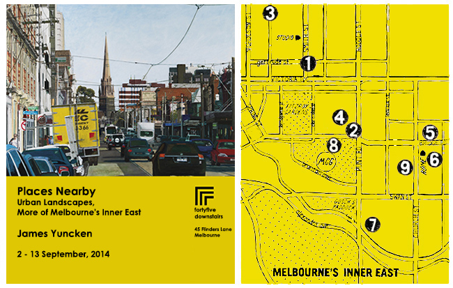 Map of Melbourne's Inner East plus Poster Image